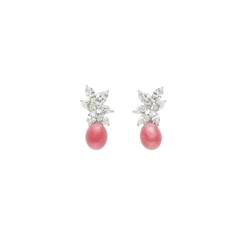 MIKIMOTO Natural Pearl Collection 孔克珍珠頂級珠寶鑽石耳環