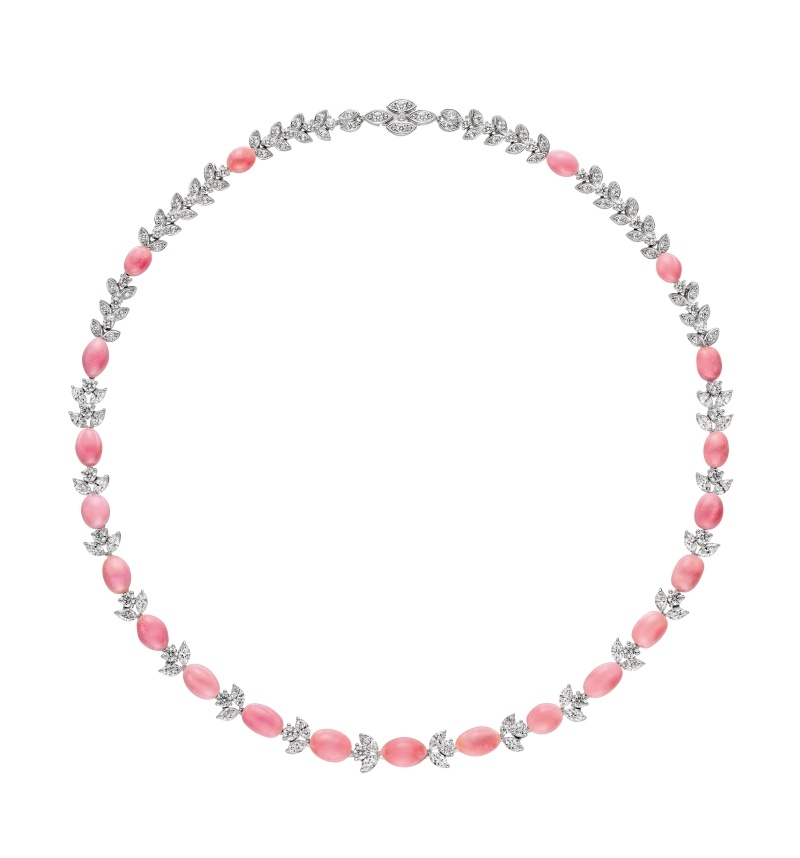 MIKIMOTO Natural Pearl Collection 孔克珍珠頂級珠寶鑽石項鍊
