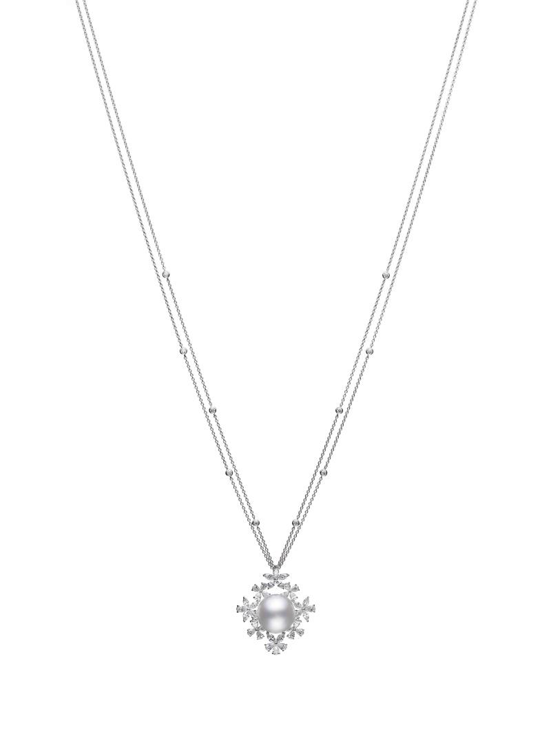 MIKIMOTO Praise to Nature Collection 南洋珍珠高級珠寶鑽石墜鍊