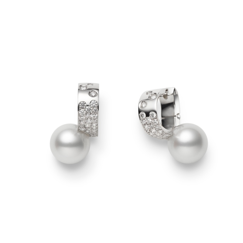 MIKIMOTO Universe Elements Collection 南洋珍珠鑽石耳環