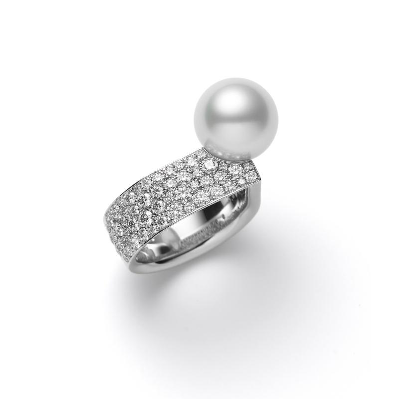 MIKIMOTO Universe Elements Collection 南洋珍珠鑽石戒指