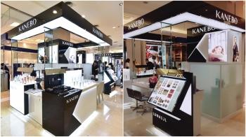 全台第一櫃開在台中!集合保養、底妝、彩妝全系列完整品項,黑白設計的KANEBO專櫃新登場