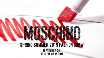 【Live】線上看!MOSCHINO 2019春夏時裝大秀,將在9/21凌晨2點登場