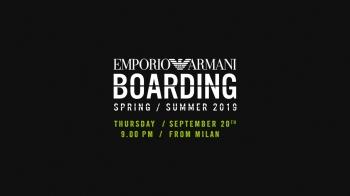 【Live】線上看!EMPORIO ARMANI 2019春夏時裝大秀,將在9/21凌晨3點登場