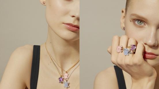 粉紅石英、紫水晶與藍玉瓍,三種寶石各有不同涵義,Dior「Tête de Mort永生骷顱」珠寶系列2018年新款酷萌上市!