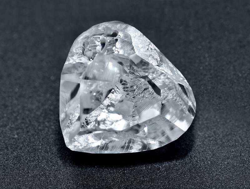 5.60克拉心形車工鑽石_從天然原鑽到拋光美鑽紀錄照片 Stage 2