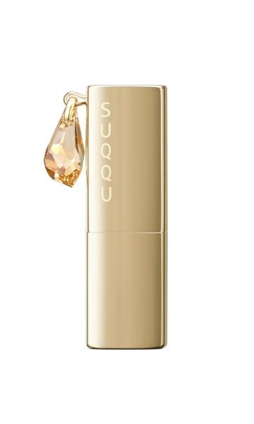 SUQQU 15週年紀念的限定彩妝,以琥珀金搭配閃耀亮燦的施華洛世奇不規則的切面水晶。