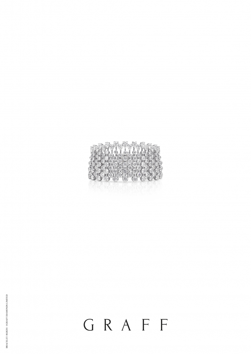 格拉夫圓形和梨形鑽石手鐲,鑽石共重49.07克拉