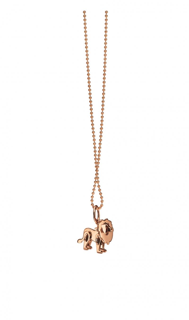 Tiffany 2018 Save the Wild系列18K玫瑰金獅子迷你吊墜 NT$22,000(不含項鍊)
