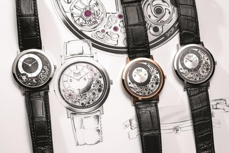 Piaget Altiplano 900P 、Piaget Altiplano Ultimate 白金及玫瑰金910P腕錶與設計圖 G0A39111, G0A43120 & G0A43121