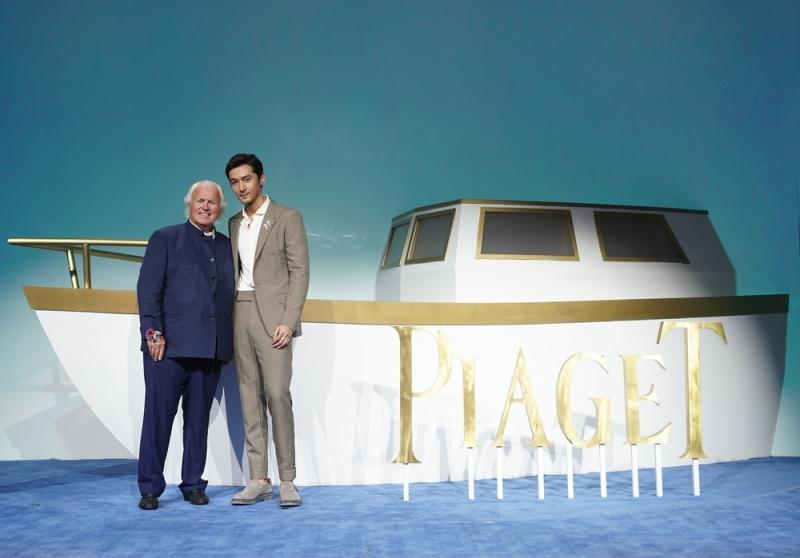 伯爵家族第四代傳人Yves PIAGET先生與品牌推廣大使胡歌合影留念