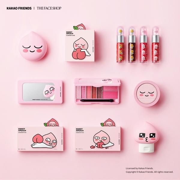 THE FACE SHOP x SWEET APEACH甜桃系列形象圖