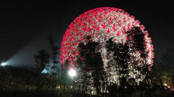 太美了!世大運聖火製作團隊「豪華朗機工」為2018臺中花博打造人類史上最大機械花!