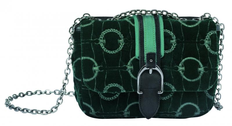 LongchampAmazone系列肩背包冷杉綠,參考售價NT17,000。