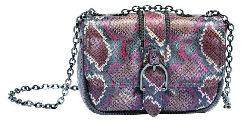 Longchamp Amazone Python系列小型荷蓬包藕粉色,參考售價NT23,700。
