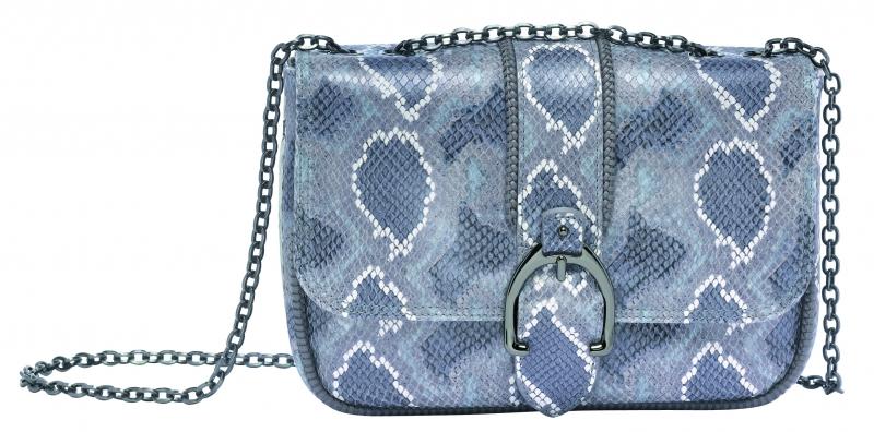 Longchamp Amazone Python系列荷蓬包灰色,參考售價NT27,500。