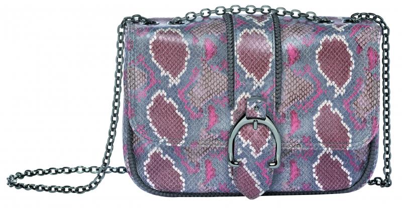 Longchamp Amazone Python系列荷蓬包藕粉色,參考售價NT27,500。
