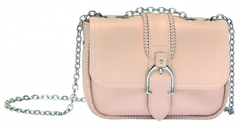 Longchamp Amazone系列小型荷蓬包淡粉色,參考售價NT22,200。