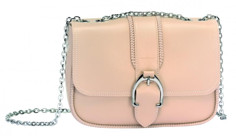 Longchamp Amazone系列荷蓬包淡粉色,參考售價NT26,300。