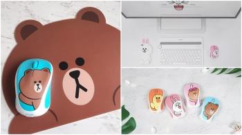 上班族必備的辦公小物!羅技X LINE FRIENDS聯名雙滑鼠禮盒,一次收集熊大、熊美、兔兔、莎莉