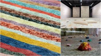 這看著心情自然都好了!這週末就到耿畫廊看泰國藝術家 Mit Jai Inn打造清邁斑斕色域空間!