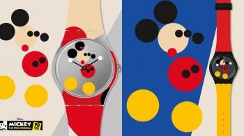 Swatch將迪士尼的美好記憶轉化至手腕上啦!繽紛色彩搭上極簡圓點組合而成的米奇能不收嗎?