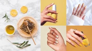 連指尖也要來一杯!盤點6款最火紅的「蜂蜜檸檬色」指彩