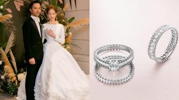 白鑽搭配白紗,簡嫚書大婚超美鑽石珠寶細節,原來是來自這個品牌…