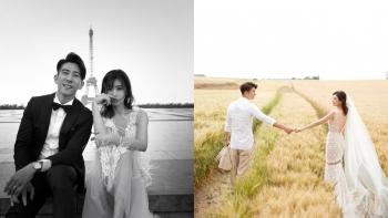 「在那一刻留下的,其實都是我們甜甜滿滿的回憶⋯」賈靜雯、修杰楷絕美巴黎婚紗照曝光!