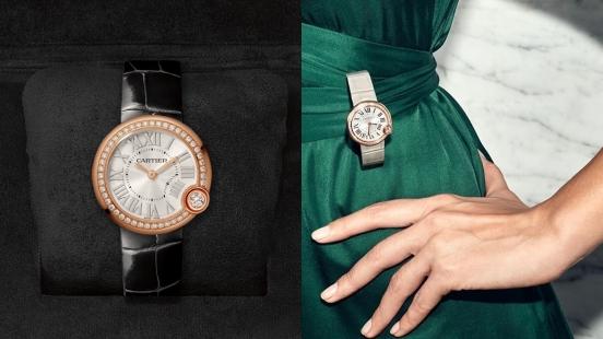 【編輯開箱】Cartier卡地亞「Ballon Blanc」白氣球女錶的細節公開,陽光飾紋錶盤、銀質時標、劍型指針、四點鐘位置鑲嵌鑽石…優雅氣質爆棚!