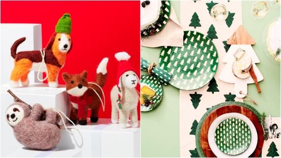 獨家香氛禮物盒、暖心動物聖誕吊飾、麋鹿棕熊抱枕、手繪聖誕貼紙 Crate and Barrel聖誕靈感今年很不一樣