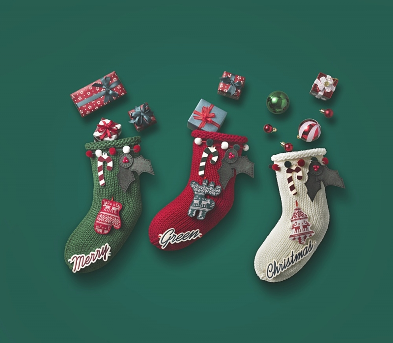 2018 綠色聖誕限定商品 DIY聖誕襪,加價NT50