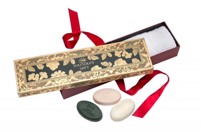 SABON暮光森林香氛皂禮盒,NT980 暮光森林香氛皂50g+茉莉花語香氛皂50g+SABON經典香氛皂50g+擦手巾