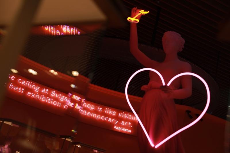 寶格麗北京WID POP頂級珠寶展於北京寶格麗酒店舉行,洋溢濃厚80年代氛圍
