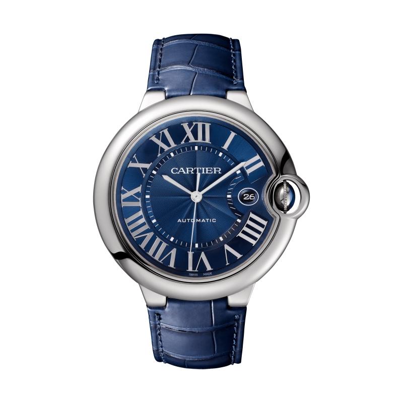 卡地亞Ballon Bleu系列藍面精鋼腕錶,42毫米 參考價格約NT$ 192,000