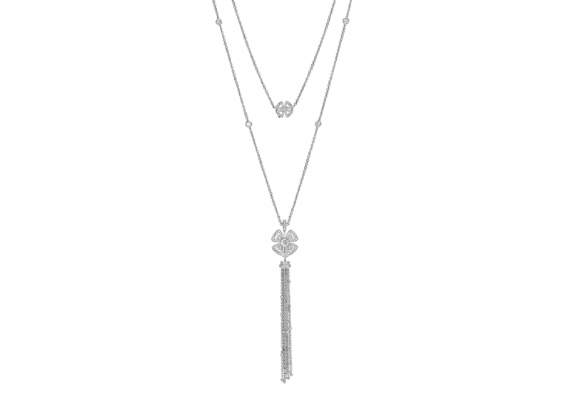 354601_BVLGARI FIOREVER 系列白K金鑽石長鍊_參考售價 約新台幣 977,000元