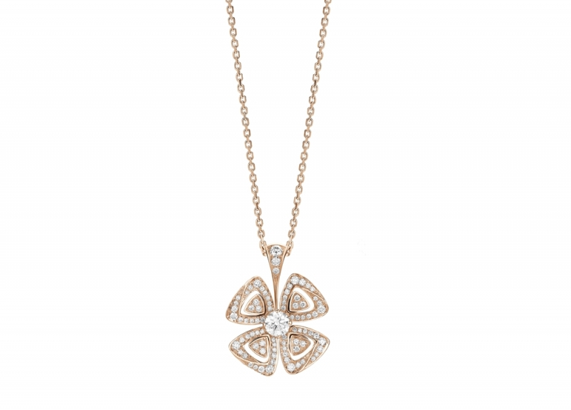 355885_BVLGARI FIOREVER 系列玫瑰金鑽石項鍊_參考售價 約新台幣 264,900元