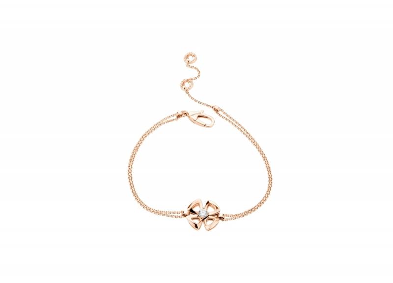 BR858441_BVLGARI FIOREVER 系列玫瑰金鑽石手鍊,參考售價 約新台幣 56,800元