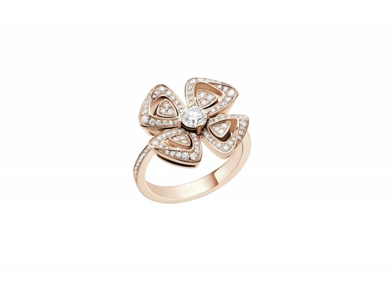 AN858504_BVLGARI FIOREVER 系列玫瑰金鑽戒_參考售價 約新台幣 255,400元