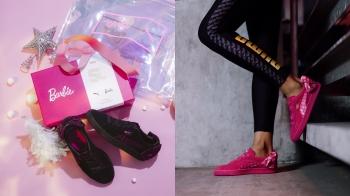 芭比控請注意!PUMA SUEDE 50週年限定版聯手Barbie,黑粉配色打造甜美酷女孩
