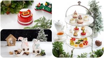耶誕雪屋、聖誕樹、驚喜球 文華餅房+青隅用縮小燈幻化耶誕景象午茶