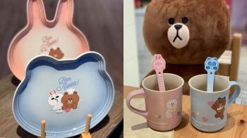 熊大兔兔咖啡杯、早餐碗盤......Le Creuset最新聯名LINE FRIENDS,7款超萌鍋具餐瓷可愛破表