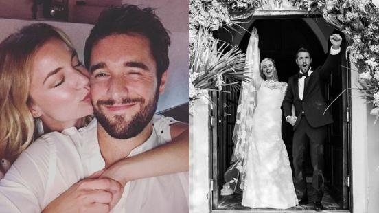 恭喜!美劇《復仇》情侶愛情長跑7年結婚啦,艾蜜莉范坎普IG曬婚照甜蜜破表