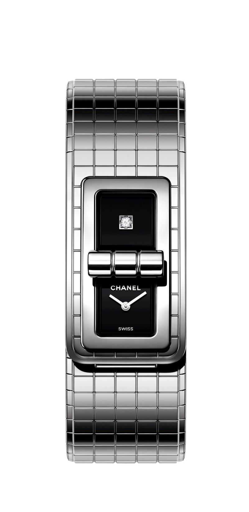 CODE COCO腕錶:精鋼及黑色陶瓷錶帶。 售價NTD211,000元