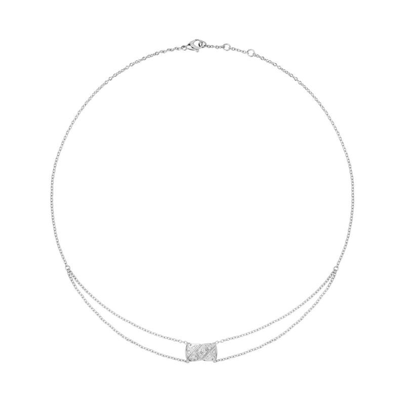 Coco Crush項鍊_18K白金鑲嵌29顆明亮式切割鑽石。 售價NTD155,000元