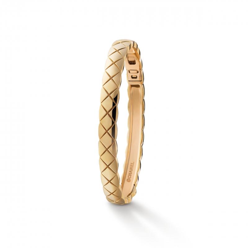 18K Beige米色金手環