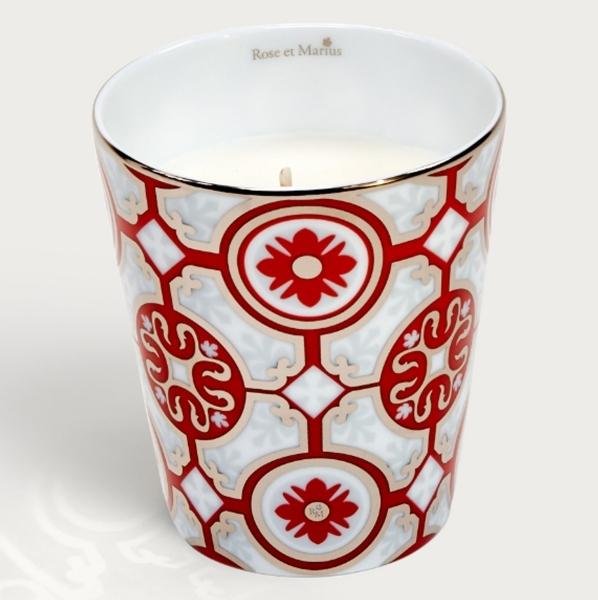 Rose et Marius優雅城堡霧紅鉑金香氛(骨瓷蠟燭杯+蠟燭100g),NT5,900