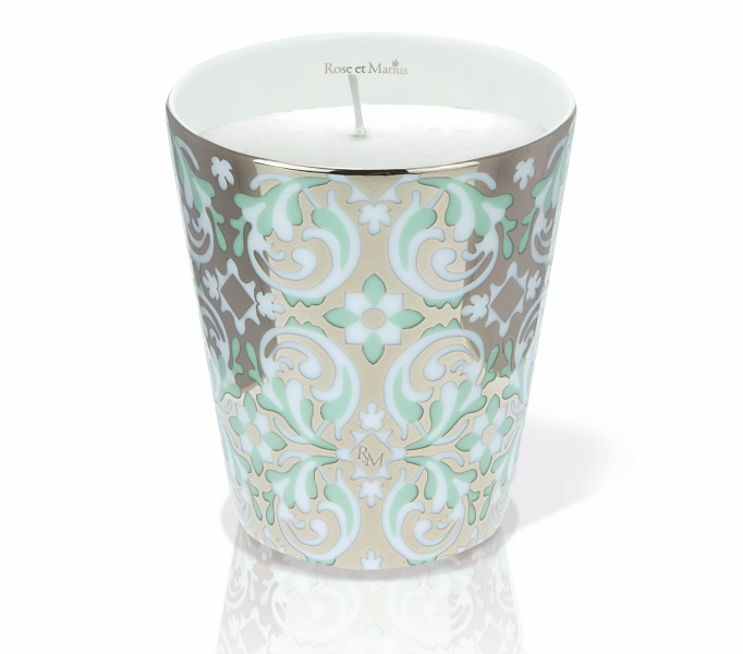 Rose et Marius美麗家園綠旋鉑金香氛 (骨瓷蠟燭杯+蠟燭100g),NT5,900