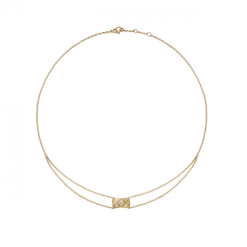 COCO CRUSH18K Beige米色金鑲嵌29顆明亮式切割鑽石項鍊