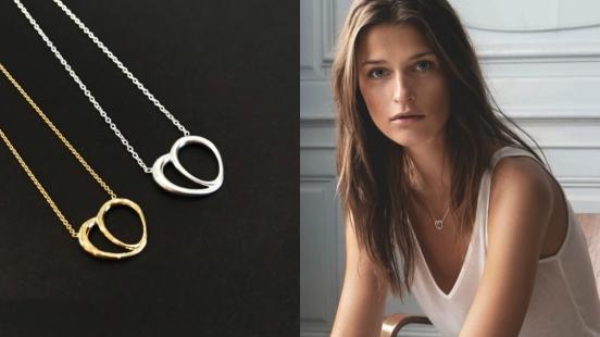 Georg Jensen全新款心型項鍊,使你在浪漫情人節裡表達對戀人心心相印的情意!